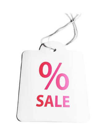 percentage sign: Sale price tag with percentage sign. Isolated on white.