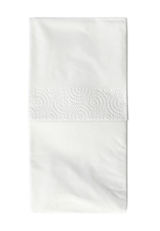 facial tissue: Hnaderchief or facial tissue, isolated on white background.