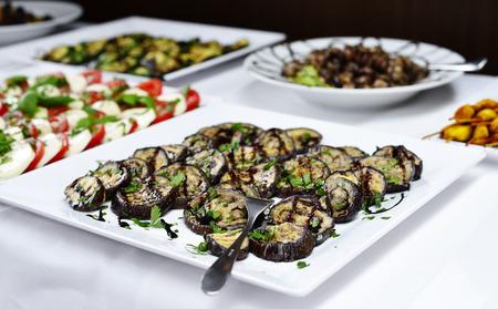 antipasto: Buffet with various italian antipasto. Stock Photo