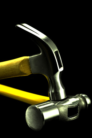handtools: wooden hammer striking ball pien hammer