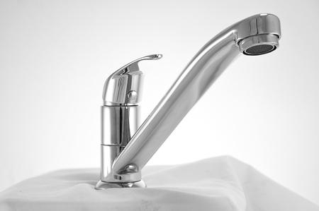 lavatory: lavatory faucet Stock Photo