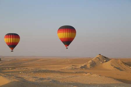 air: Hot Air Balloon, Dubai Stock Photo