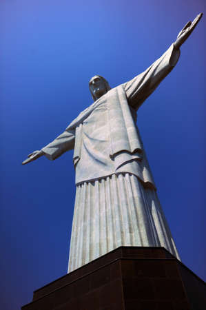 south american ethnicity: RIO DE JANEIRO, BRAZIL : Christ the Redeemer statue was created by French sculptor Landowski between 1922 and 1931, stand on the top of Corcovado Mountain in Rio de Janeiro, Brazil
