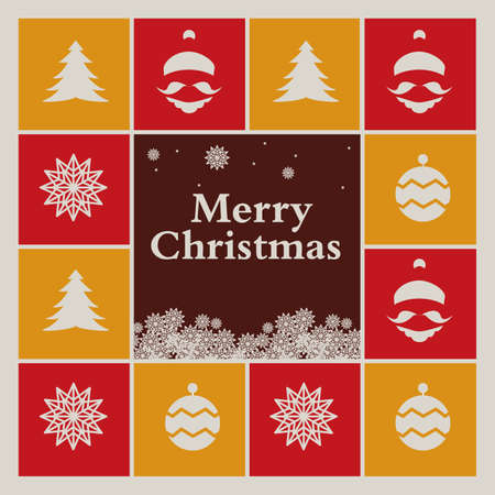 greeting card background: Christmas Background or greeting card Design Illustration