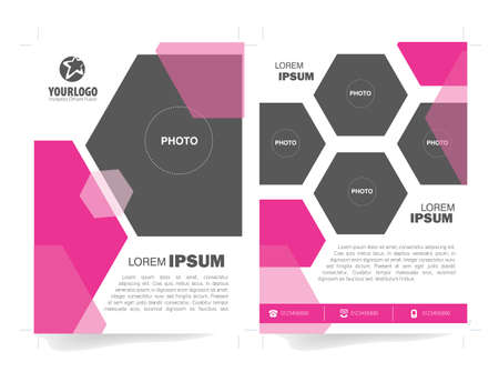 publisher: Flyer Brochure Template with Polygonal Color elements