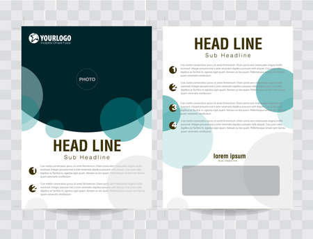 Flyer Brochure Template with fresh circle analog color elements