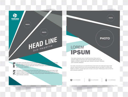 triad: .Flyer Brochure Template with triad analog color elements Illustration