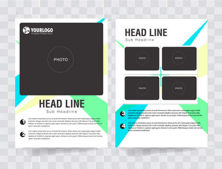 triad: Flyer Brochure Template with triad analog color elements