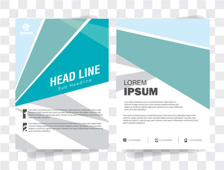 headline: Flyer Brochure Template Shape Headline with  Color elements