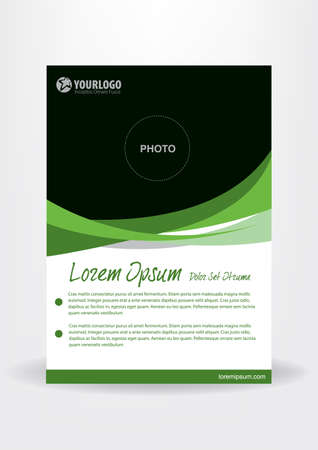 Brochure template flyer design vector with Abstract Elements