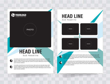 publisher: Flyer Brochure Template with triad analog color elements