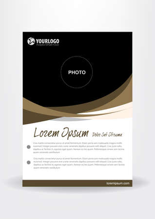 publisher: Brochure template flyer design vector with Abstract Chocolate  Elements