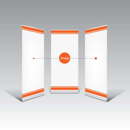Roll Up Banner Template Royalty Free Cliparts, Vectors, And Stock ...