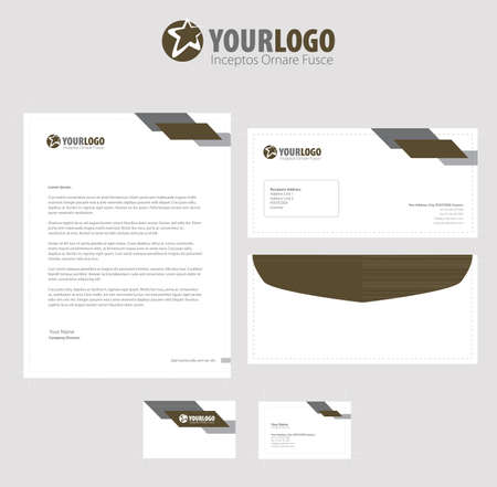 royal mail: Corporate stationery template design with color elements