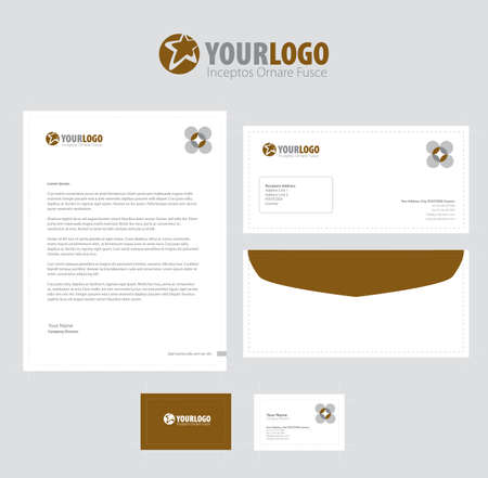 classic style: Corporate stationery template design