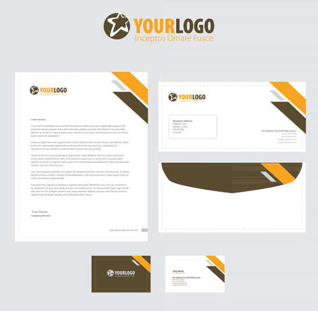 Corporate stationery template design