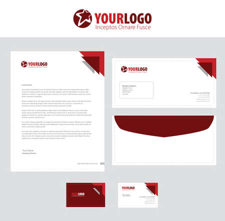 Set of vector corporate identity templates modern business set of vector corporate identity templates modern business stationery design stock vector 64322919 accmission Images