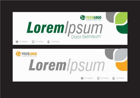Horizontal Template Banner ontwerp met elementen