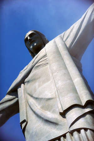 brazilian ethnicity: RIO DE JANEIRO, BRAZIL : Christ the Redeemer statue was created by French sculptor Landowski between 1922 and 1931, stand on the top of Corcovado Mountain in Rio de Janeiro, Brazil
