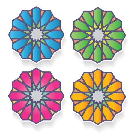Geometrical or Arabic ornament design