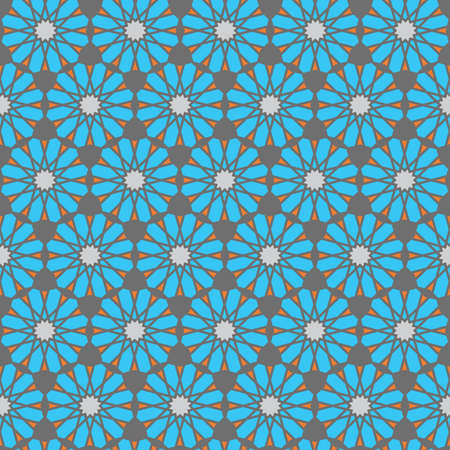 Arabic geometric ornament. Seamless islamic Moroccan pattern set. square tiled texture. Vector islam royal wallpaper. Pattern design Vector Illustration