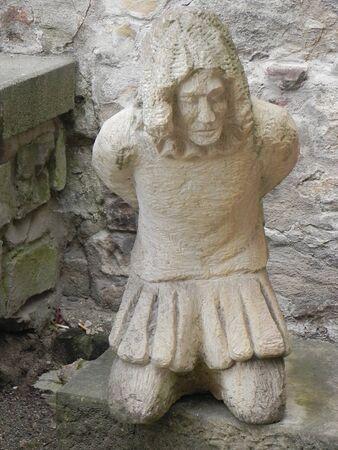esclavo: escultura de esclavos en Praga
