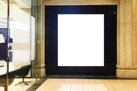 Large empty blank poster light box  ideal for digital signage, video wall, screen demo, copy space or information board