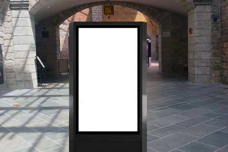 Advertisement light box space ideal for marketing mock up, digital signage, video ads and discount campaigns