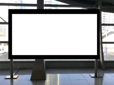 Large billboard advertisement space inside a metro rail station 스톡 콘텐츠
