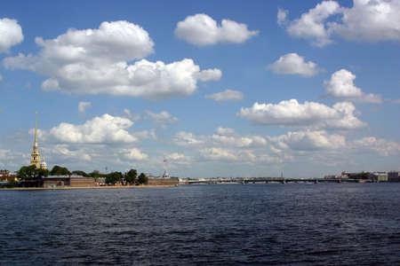 neva: St. Petersburg - view river Neva