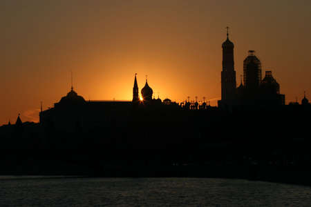 Sunset in the Moscow