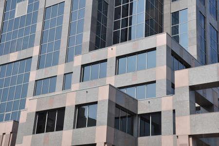 Detail van een modern gebouw in Raleigh, NC