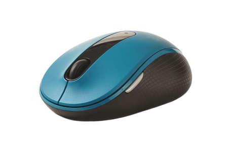 moderne draadloze computer muis tegen een witte achtergrond Stockfoto