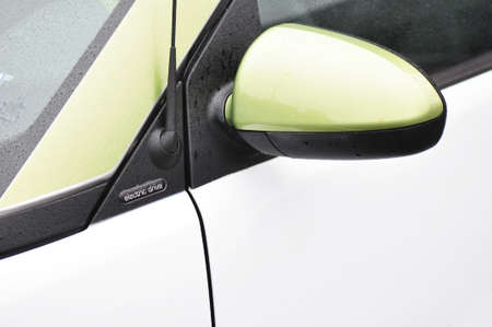 Detail of a Smart all electric vehicle