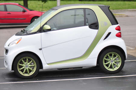 Profile view of the Smart FourTwo electric vehicle, offered in North America