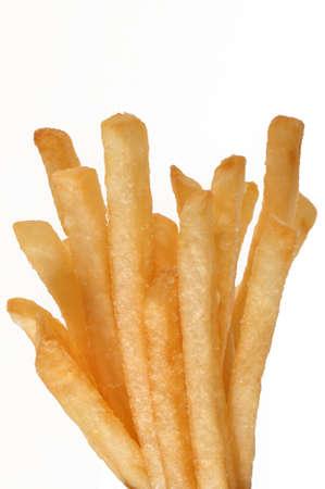 groepering van patat geïsoleerd op witte achtergrond Stockfoto