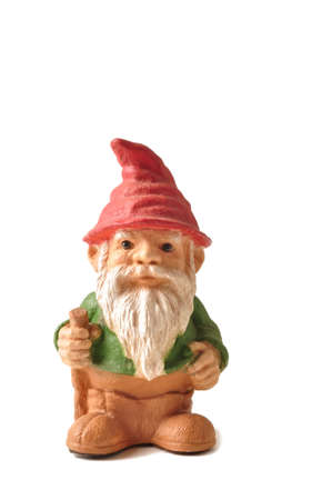 Garden gnome isolated on a white background Stock Photo