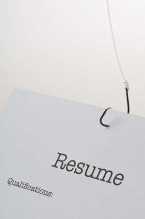 Concept image of the job hunt process photo