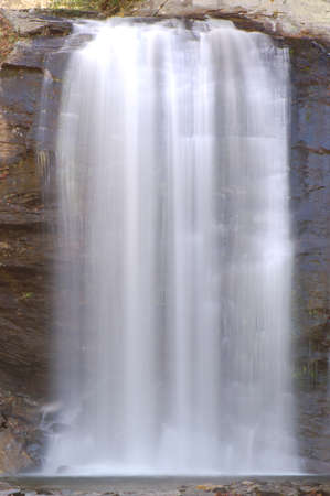 Looking Glass Fallls, a popular tourist attraction in Brevard, North Carolina Stock Photo - 15216833