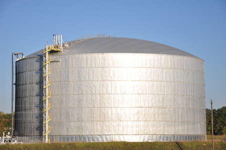 large industrial natural gas or propane holding tank photo