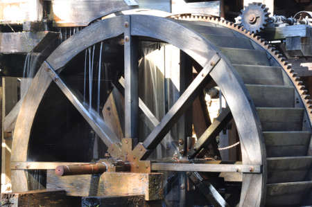 Water wheel of  historic Yates Mill in Raleigh, North Carolina Stock Photo - 15217394
