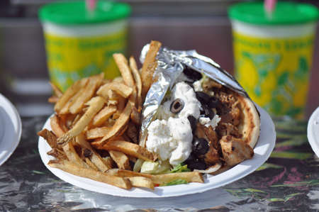 food state: Pita Gyro for sale at the North Carolina State Fair Grounds in Raleigh