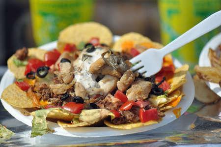 plato de ensalada: Cargado placa Ensalada Nacho o Taco en venta