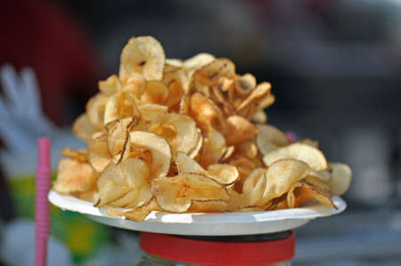 food state: Butterfly Potato Chips for sale at the North Carolina State Fair Grounds in Raleigh