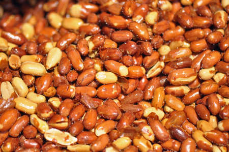 Roasted and salted red skin peanuts for sale at the Raleigh Farmers Market, North Carolina Reklamní fotografie