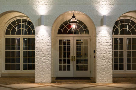 entryway: Entryway to a church in downtown Raleigh, North Carolina Stock Photo