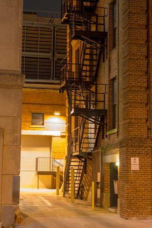 empty office: City stairs, photographed at night in downtown Raleigh, North Carolina