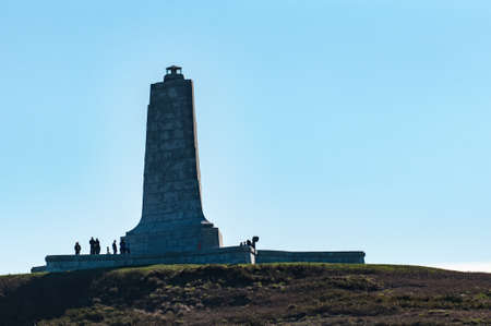 kill: The Wright Brothers Aviation monument in Kill Devil Hills, North Carolina Stock Photo