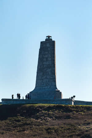 brothers: The Wright Brothers Aviation monument in Kill Devil Hills, North Carolina Stock Photo