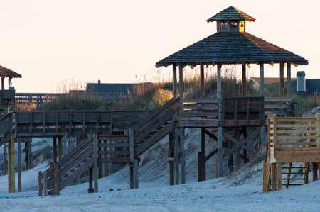 beach access: Beach access and gazebo at the Outer Banks, North Carolina
